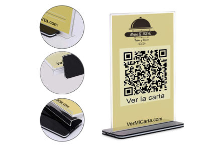 display sobremesa codigo QR